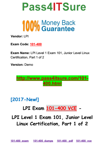 Latest Certification Vce] Latest Updated Lpi 101-400 Dump
