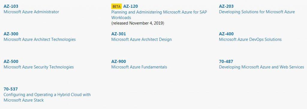 2020 Microsoft azure certification