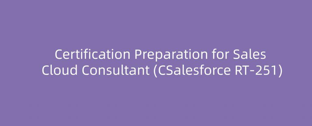 Salesforce CRT-251