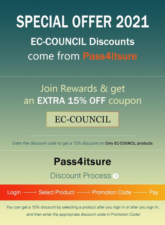 Pass4itsure EC-COUNCIL dumps discount code 2021